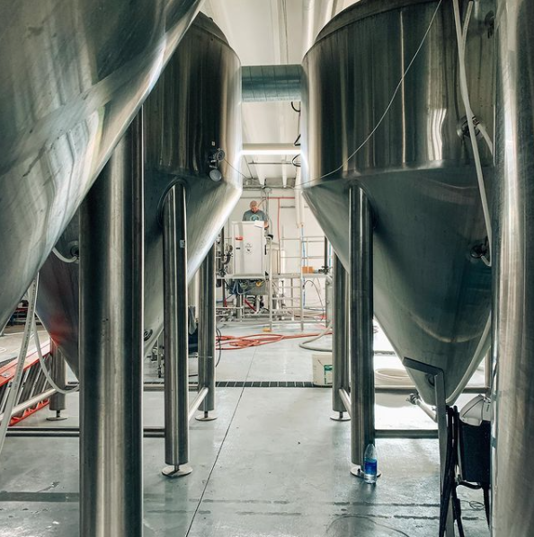 The Brewing Equipment at Fly Llama Brewing in Biloxi, Mississippi